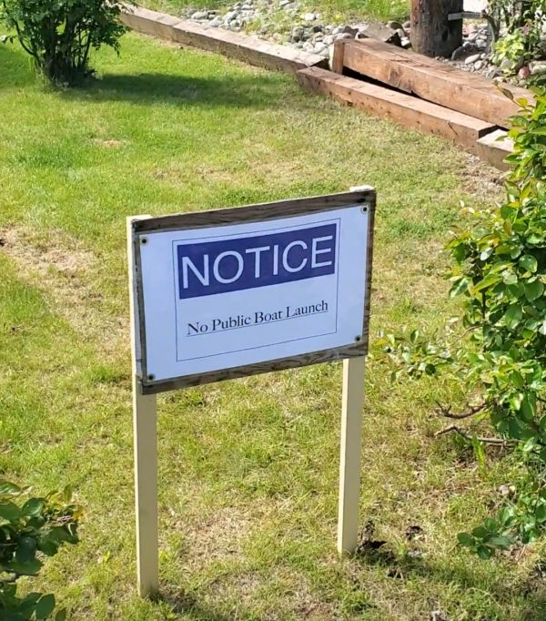Sign that was recently put up