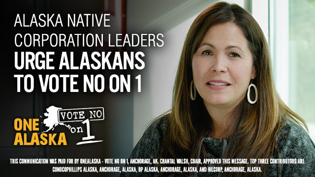 One Alaska - No on 1