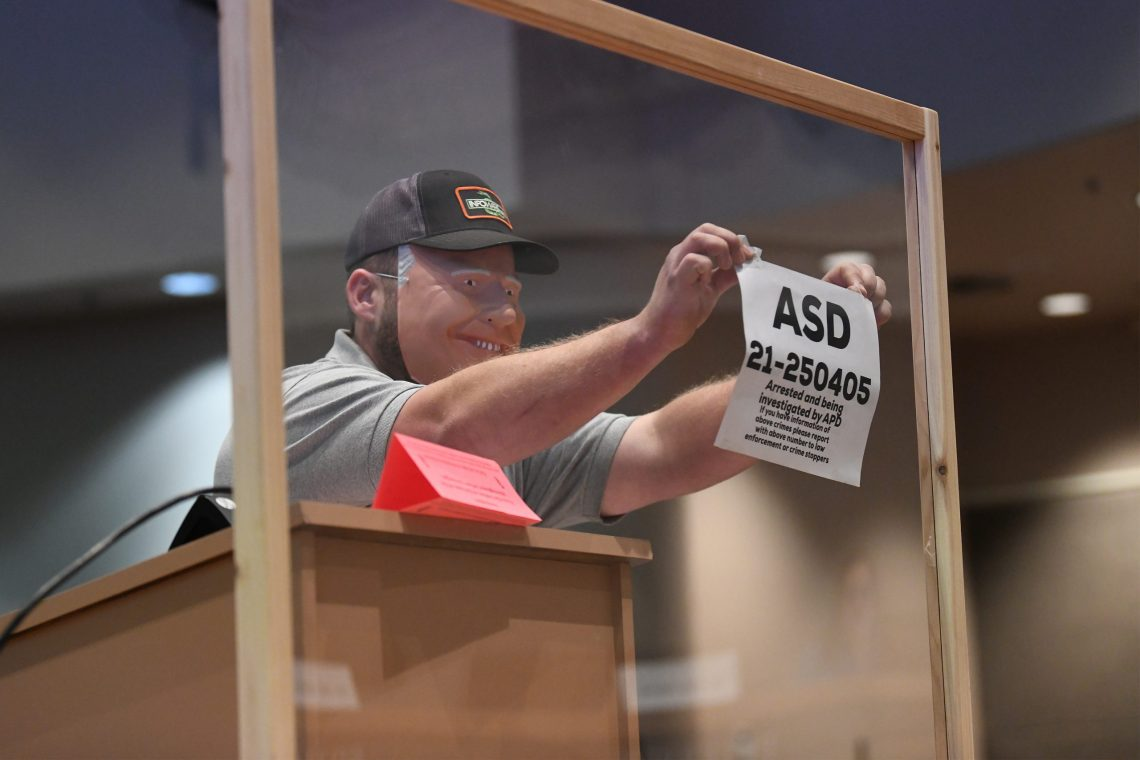 Dustin Darden appears to attempt a citizens arrest of the Anchorage Assembly and ASD School Board